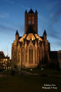 St. Nicolas's Cathedral at Twilight - Ghent, Belgium