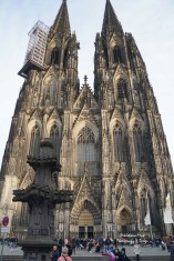 Cologne Cathedral. One of the shots sacrificed so as not to irritate the youngster. Someday I hope to go back, at the right time of day, and get this cathedral from the proper distance (preferably without scaffolding on some part of the towers).