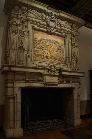 The Music Room's Impressive Fireplace