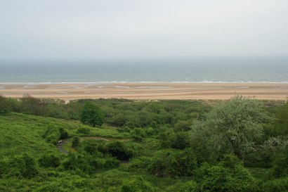 View of Omaha Beach from the American cemetery