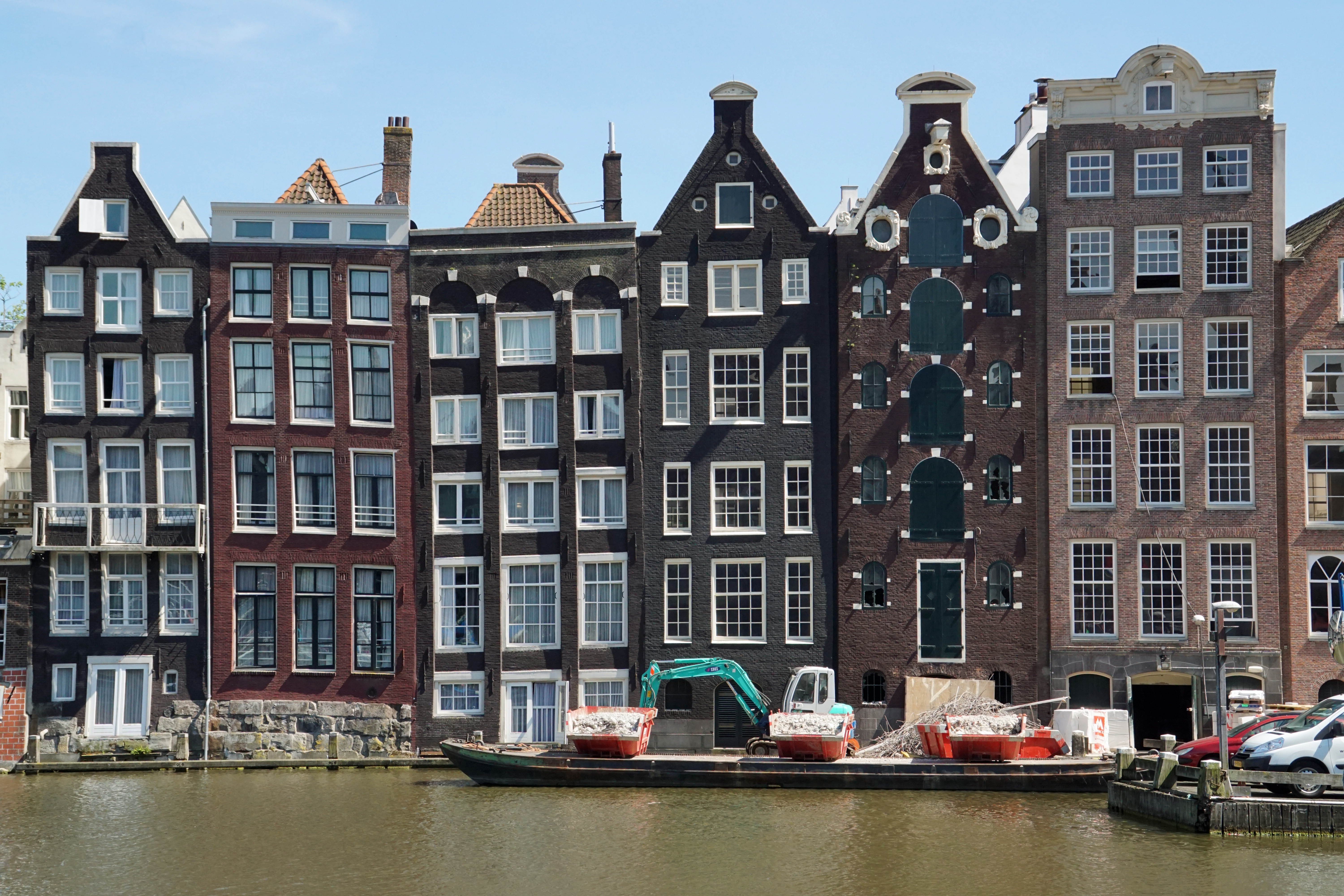 The Wonky, Waterfront Houses of Amsterdam